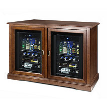 Siena Mezzo Wine Credenza (Walnut) and Two Evolution Beverage Center