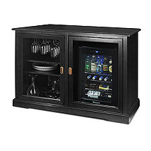 Siena Mezzo Wine Credenza (Nero) and Evolution Beverage Center