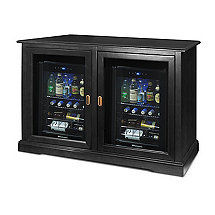 Siena Mezzo Wine Credenza (Nero) and Two Evolution Beverage Center