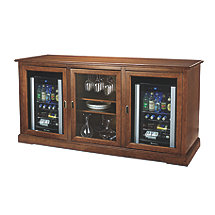 Siena Triple Wine Credenza with Two Evolution Series Beverage Center