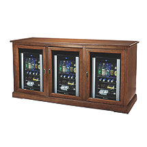 Siena Triple Wine Credenza with Three Evolution Series Beverage Center
