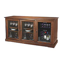 Siena Triple Wine Credenza with 24 Bottle Touchscreen Wine Refrigerator