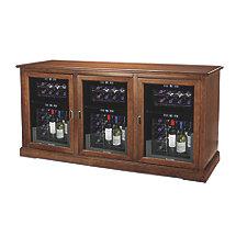 Siena Triple Wine Credenza with Three 24 Bottle Touchscreen Wine Refrigerator