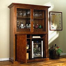 Siena Armoire with Evolution Series Beverage Center (Walnut)