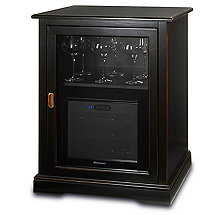 Siena Single Wine Credenza with 12 Bottle Touchscreen Wine Refrigerator (Nero)