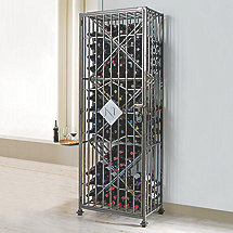 Personalized SoHo 96 Bottle Wine Jail (Left Hinge) (Initial - L)