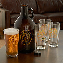 Personalized Brewing Co. Growler & Glasses Set