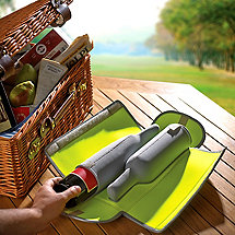 BottleGuard Neoprene Two Bottle Wine Protector & Carrier (Neon)