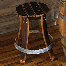 Barrel Stave Stool with Swivel Seat (19 Inch)
