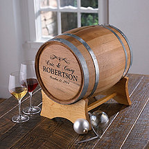 Personalized Occasion Wine Barrel