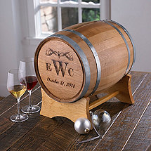 Monogrammed Occasion Wine Barrel