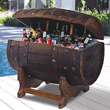 Reclaimed Tequila Barrel Ice Chest and Stand (Small)