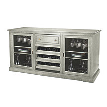 Siena Wine Credenza (Distressed Gray)