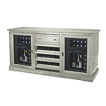 Siena Wine Credenza (Gray) with Two 24 Bottle Wine Refrigerators