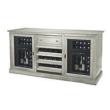 Siena Wine Credenza (Gray) with Two 24 Bottle Wine Refrigerators