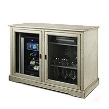 Siena Mezzo Wine Credenza (Distressed Gray) and Evolution Beverage Center