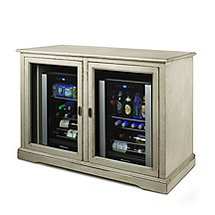 Siena Mezzo Wine Credenza (Distressed Gray) and Two Evolusion Beverage Center