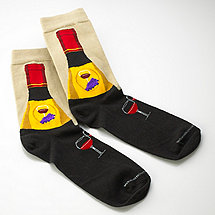 Men's Wine Bottle Socks