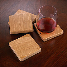 Reclaimed Barrel Stave Coasters (Set of 4)