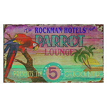 Personalized Parrot Lounge Sign
