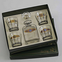 Cigar Label Whiskey Decanter Set