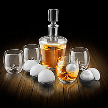 On The Rock Glass Whiskey Decanter Set