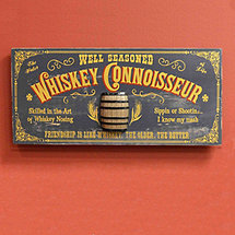 Whiskey Connoisseur Sign