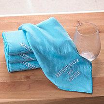 Personalized Microfiber Bar Towels (Set of 4)