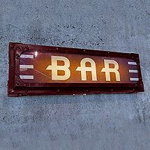 Illuminated Bar Sign (Red)