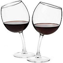 Tipsy Wine Glasses (Set of 2)