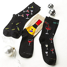 Men's Bar Socks (Set of 3)