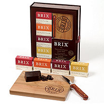 Brix 4-Piece Tasting Party Gift Set with Cutting Board and Knife