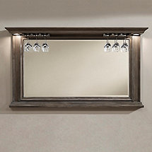 Riviera Bar Mirror Glacier with Wine Glass Rack