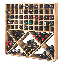 Jumbo Bin Grid 100 Bottle Wine Rack (Unstained)