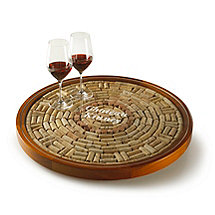 Personalized Wine Cork Lazy Susan Kit (2 Lines)