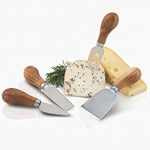 Olive Grove Cheese Knife and Chateau Cheese Marker Set