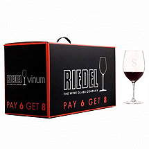 Personalized Riedel Vinum Cabernet / Bordeaux (Pay 6 Get 8)