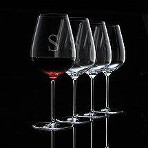 Personalized Fusion Air Bordeaux Wine Glasses (Set of