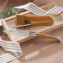 Personalized Laguiole Folding Pocket Knife & Corkscrew