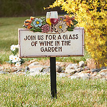 Wine in the Garden Sign