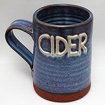 One Pint Cider Tankard (Blue)