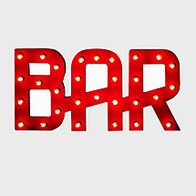 Vintage Bar Sign Lighted (Red)