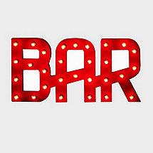 Vintage Bar Sign Lighted (Red)