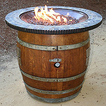 Reclaimed Wine Barrel Firepit Bistro