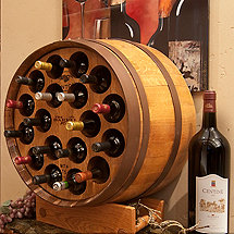 Reclaimed One Third Barrel Wine Rack