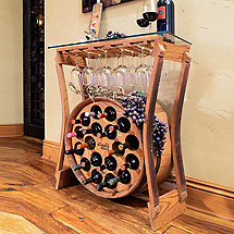Reclaimed Barrel Rack Wine Bar