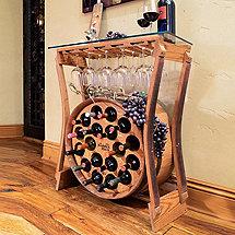 Reclaimed Barrel Rack Wine Bar