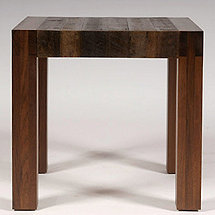 Reclaimed Wood Beam Leg Side Table