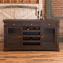 Reclaimed Wood Heart Pine Mahogany Wine Credenza