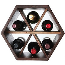 Hive Modular Wine Rack with Dividers (Walnut)